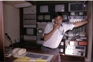 De servicio en un control de RTV-Aitana