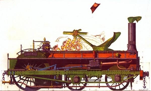 Max Ernst. Jeune fille changée en locomotive. 1970