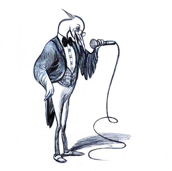 Vogelradiosprecher.El pájaro radiofonista.