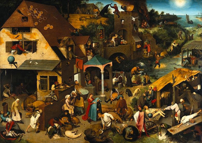 Los Proverbios Flamencos, Pieter Brueghel, 1559
