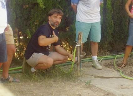 Alberto Llopis instruyendo. Foto Consejos para mi Huerto