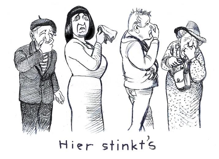 hier stinkt's