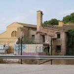 Una de las represas de la Real Acequia de Montcada, en el término municipal de Valencia, a un tiro de onda de Burjassot
