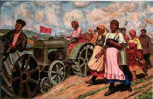 Otra idealización soviética. Tomada de elcarburantedelahistoria.blogspot.com