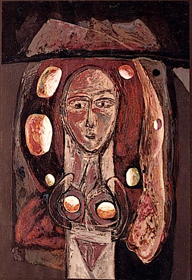 1987 Dama de las esferas (óleo_papel)