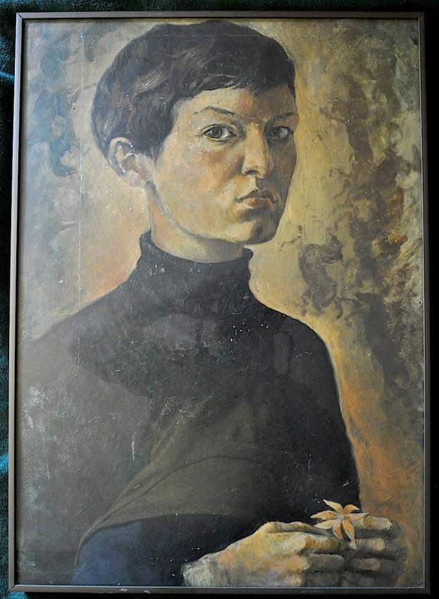 Autorretrato de Marta antes de conocer a Renau. Foto F.B.