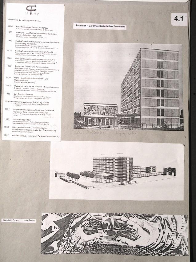 Estudio del fallido mural de XX que conserva Bruno Flierl. En el se observa la precisión de Renau en sus trabajos preparatorios. Foto F.B.