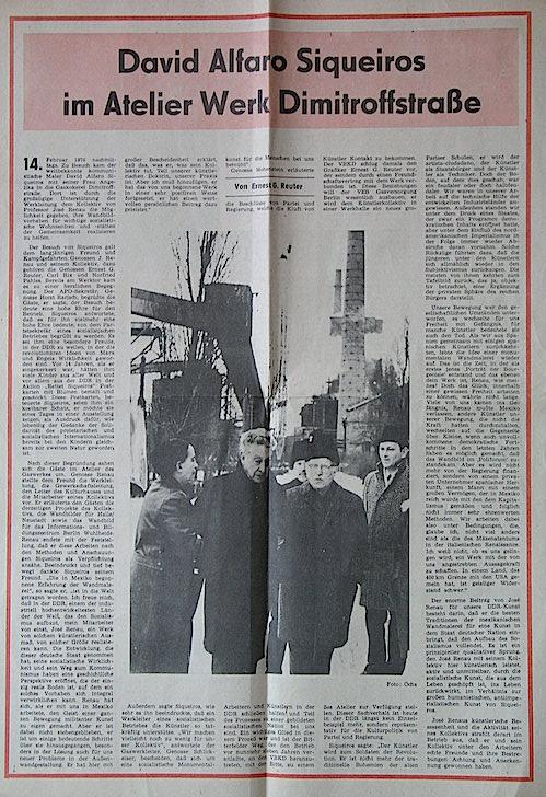 Artículo de Waltraud Schwarze sobre la visita de Siqueiros a Berlín
