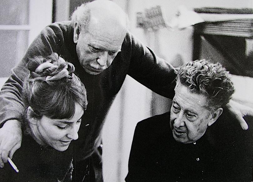 Waltraud Schwarze, Renau y Siqueiros. Foto de Manfred Schmidt