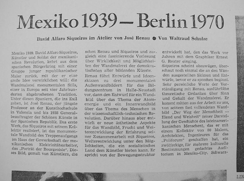 Artículo de Waltraud, entonces soltera y de apellido Schultze