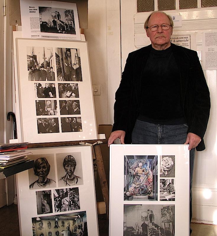 Ernst Reuter ensu casa de Berlín, en 2006. El panel de su derecha muestra algunas fotografías realizadas durante la estancia de David Alfaro Siqueiros en Berlín. Foto F.B.