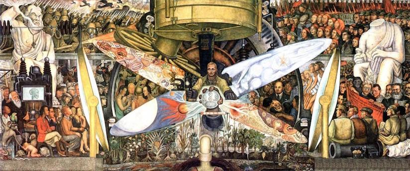 El hombre en su encrucijada de Diego Rivera. Palacio de Bellas Artes de Ciudad de México 1934