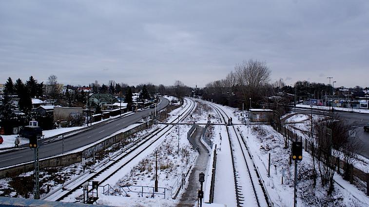El Berlín que recibió a Renau. Foto de 2009 de una estación del antiguo Berlín Oriental.