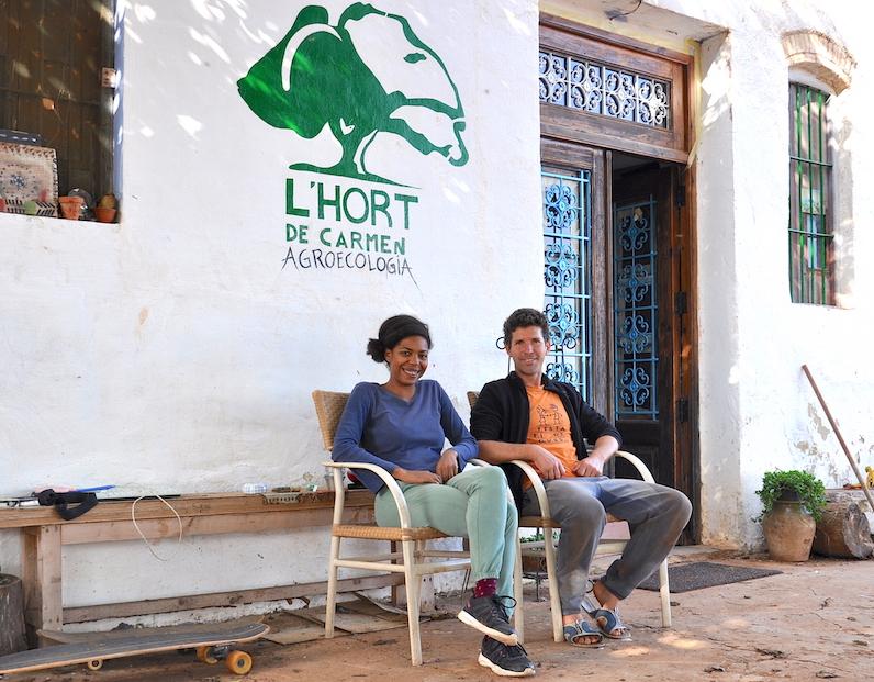 Francesca y Raúl, de l'Hort de Carmen.