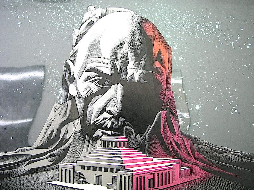 "Boceto del ""Lenin Poem"". Foto Fundació Josep Renau"