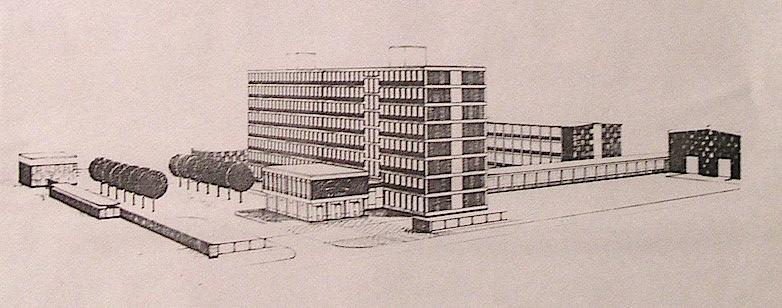 Otro boceto del edificio que nunca llegó a construirse.