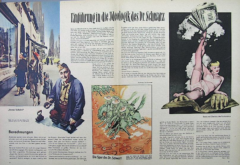 Contribución de Renau a un artículo contra el capitalismo yanqui en Eulenspiegel. Fundació Josep Renau