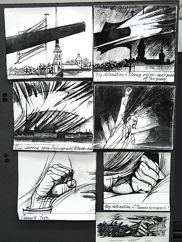 """Uno de los cartones de las películas de dibujos de Renau, posiblemente del titulado """"Petrograd"""". Foto Fundació Josep Renau."""