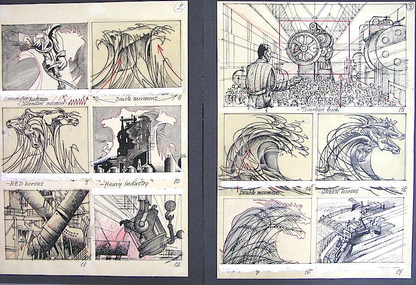 """Otros bocetos del """"Lenin Poem"""". Fundació Josep Renau"""