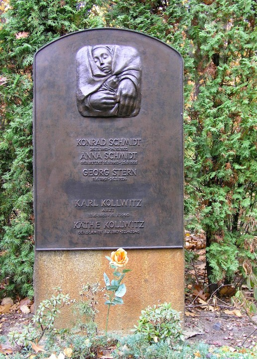 Tumba de Käthe Kollwitz en el cementerio Francés de Berlín .