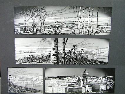Cartón de una de las películas de Renau para la DEFA. Foto archivo Fundació Josep Renau.