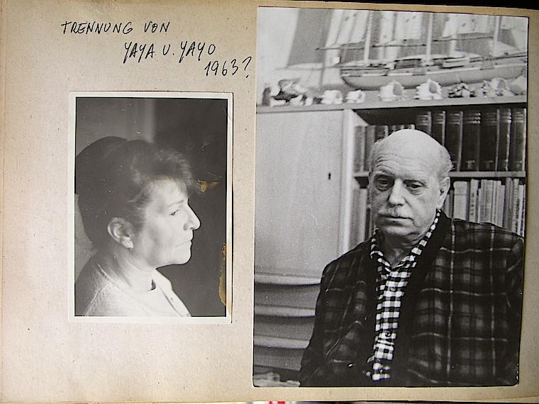 """La fotografía, del álbum de Teresa, dice """"Separación de yaya y yayo"""", con una duda sobre la fecha. La expresividad de los rostros fue lo que debió detrminar a Teresa escoger estas fotos para el triste  acontecimiento."""