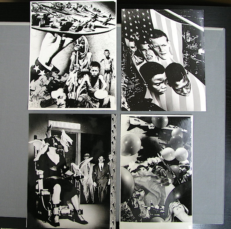 Varias fotografías preparatorias de los fotomontajes.