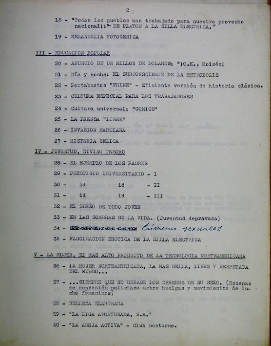 Segundo folio del mismo listado.