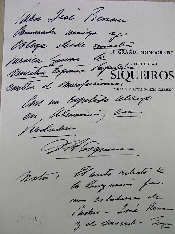 """No le valió de mucho a Renau este reconocimiento explícito de Siqueiros sobre la autoría del mural """"La de la Burguesía"""", modelo de trabajo comunal."""