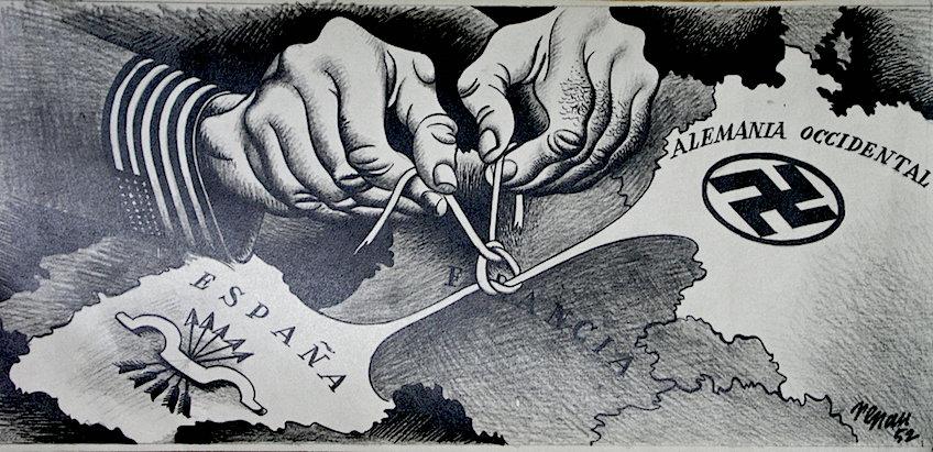 Uno de los dibujos antiimperialistas de Renau, fechado en 1952