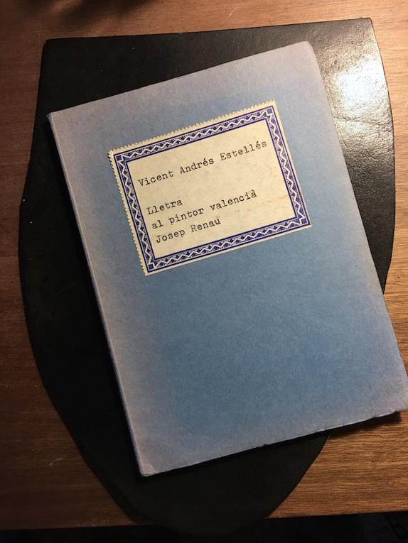Portada del libro de Estellés editado por Tres i Quatre.