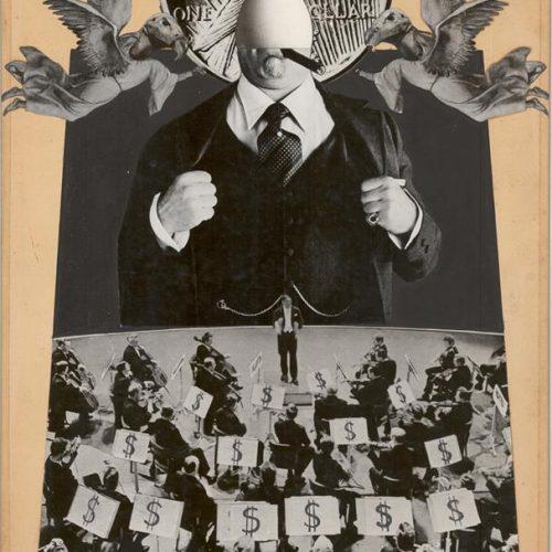 Dollar Concerto. Fotomontaje años 70.