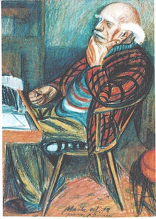 Dibujo de Renau realizado por Marta Hofmann