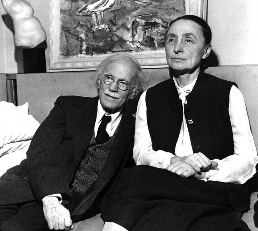 Alfred Stieglitz y Georgia O'Keefe.