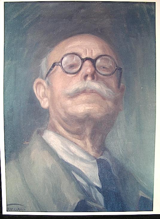 Don José Renau Montoro. Retratado por su hijo. Foto del archivo familiar de Teresa Renau.