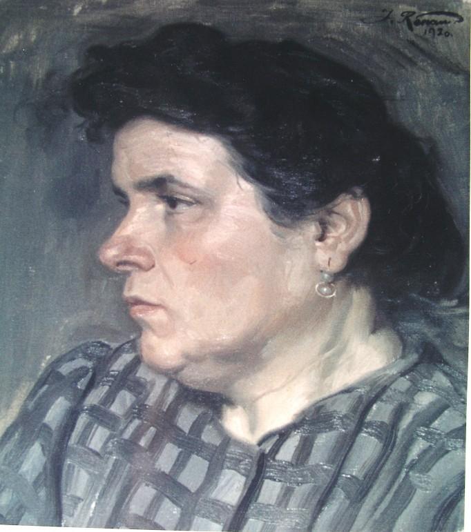 Doña Matilde Berenguer retratada por su hijo José en 1930. Archivo familiar de Matilde Renau, hermana del artista.
