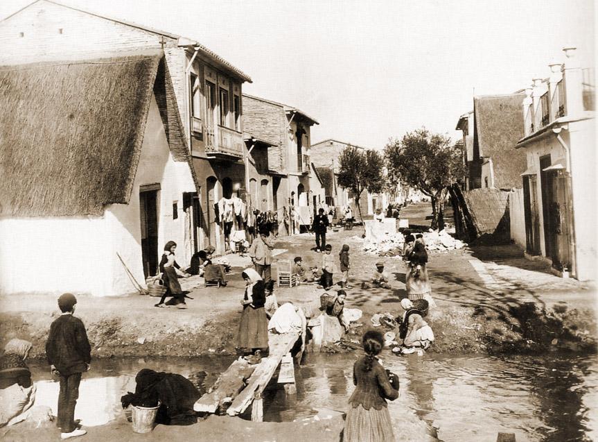 Una estampa de El Cabañal de Valencia hacia principios del siglo XX. Imagen tomada de Urbancidades.