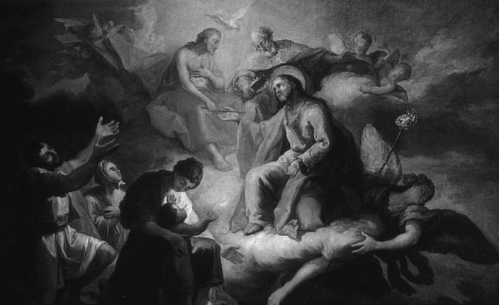 La Glorificación de San José de Francisco Llácer, restaurado por Renau Montoro. Ilustración tomada del Instituto Universitario de Restauración de la web de Patrimonio de la Universidad Politécnica de Valencia