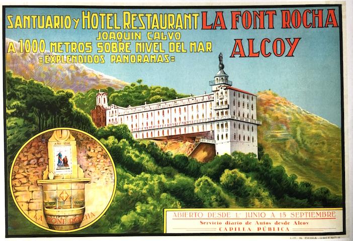 Otra muestra de cartel publicitario de las primeras décadas del siglo XX. Anónimo. Impreso en otra de las grandes litografías valencianas, Durá.