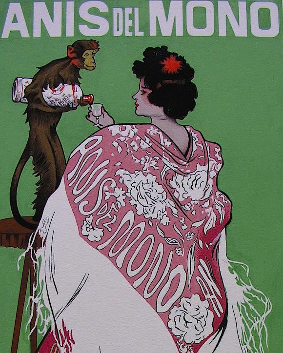 Fragmento de un cartel publicitario de Ramón Casas.