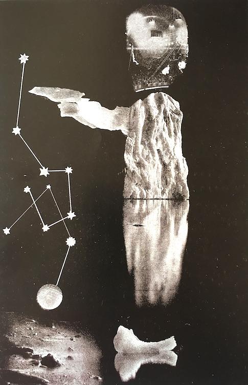 El Hombre Artico, el primer fotomontaje de Renau, producto de su crisis interior. Archivo de la Fundació Josep Reanu.