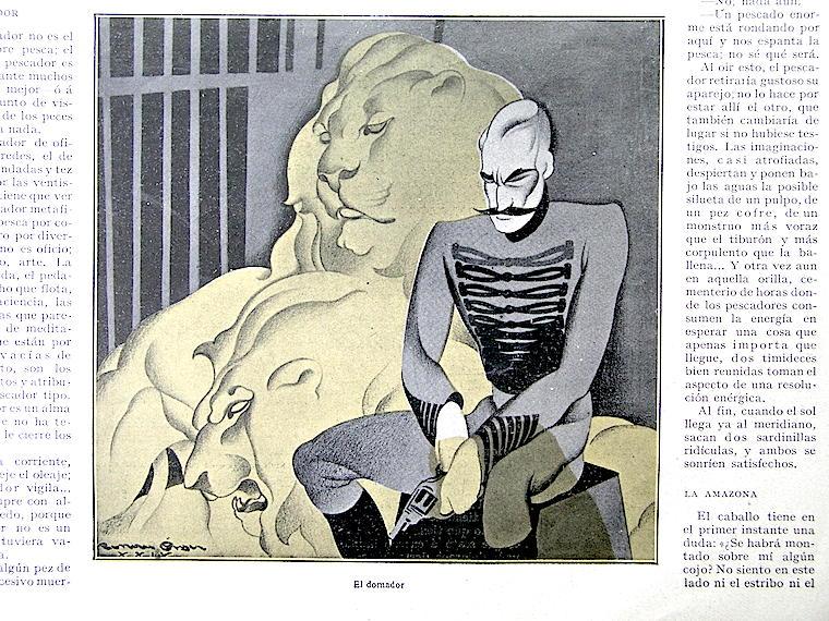 """Ilustración de una de las témperas de Renau en """"La Esfera"""". Ilustración del archivo de la Fundació Josep Renau"""