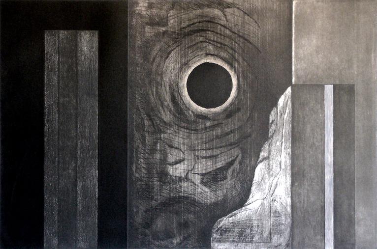 Luna negra del sol estático
