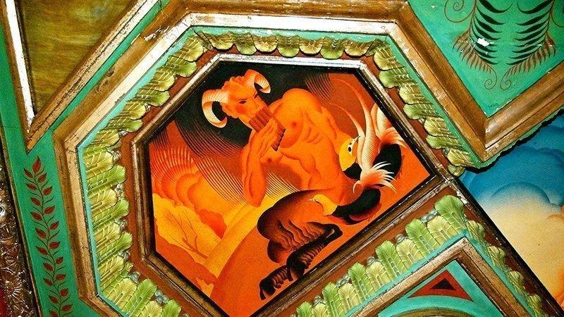 Fragmento del fresco dela calle Caballeros de Valencia, que Marta Hofmann ha llamado a salvar.
