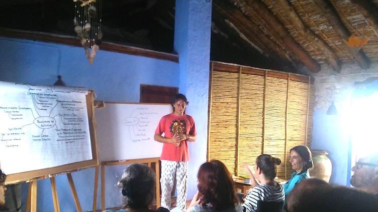 Ala de permacultura en el hogar de Inma y Carlos. Fase teórica.