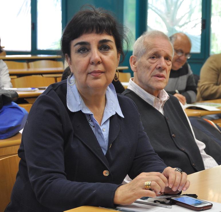 María C Jaizme y Javier Tello, en la UJI