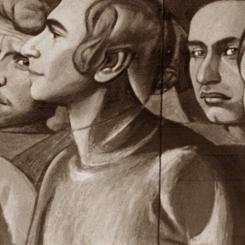 Fragmento de boceto para mural