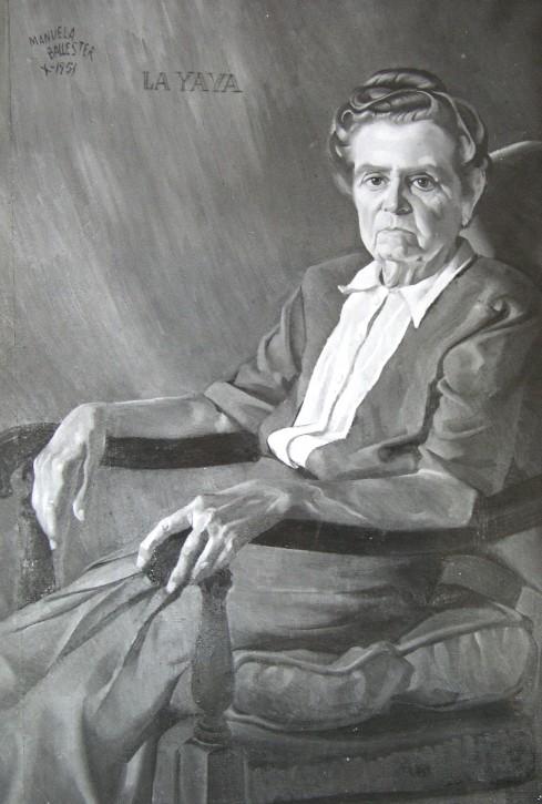 La matriarca de las familias Renau y Ballester. Magnífico retrato de su hija Manuela.