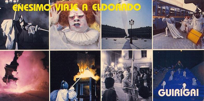 1986 Tarjeta Enésimo viaje a Eldorado