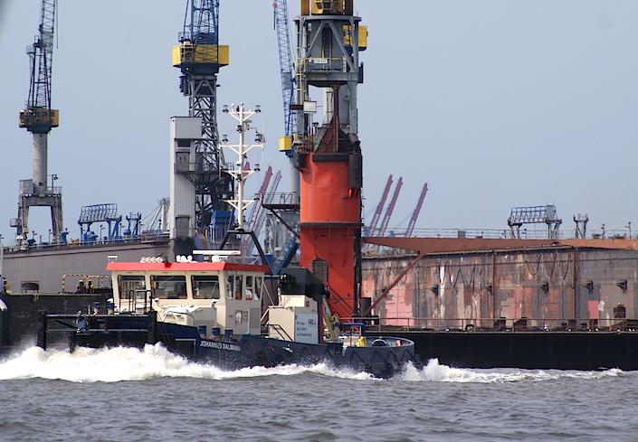 El industrial puerto de Hamburgo